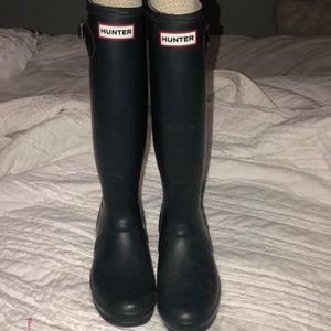 Navy Blue Hunter Rain Boots
